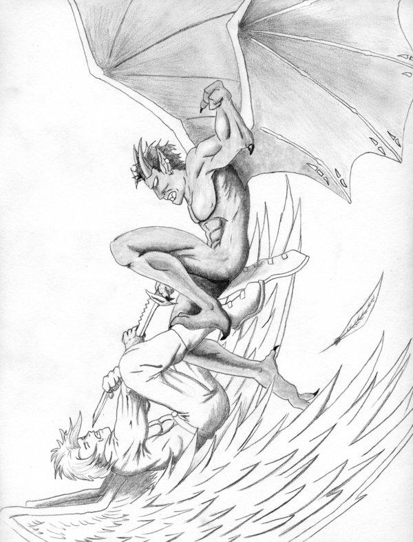 600x786 Evil Vs. Good By Mushitora On Anime Evil Tattoo