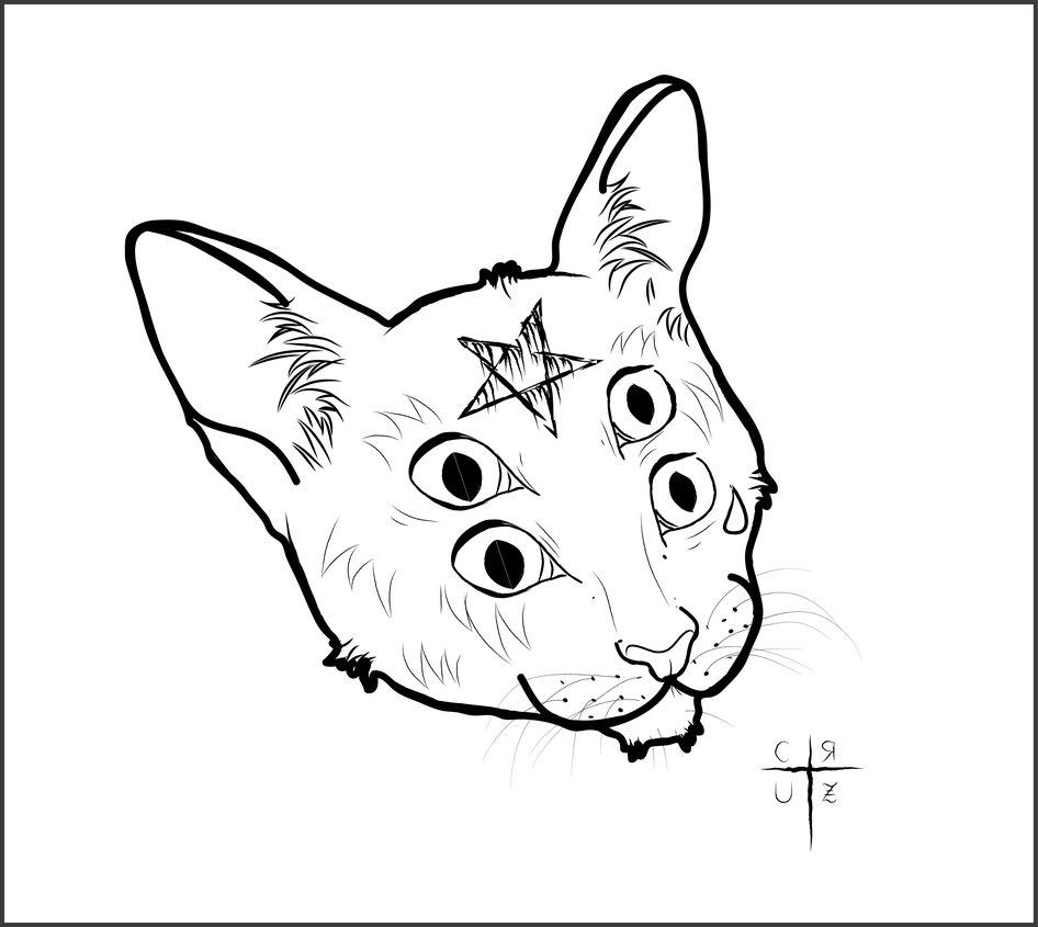 946x845 Evil Cat By Cruzjuliana