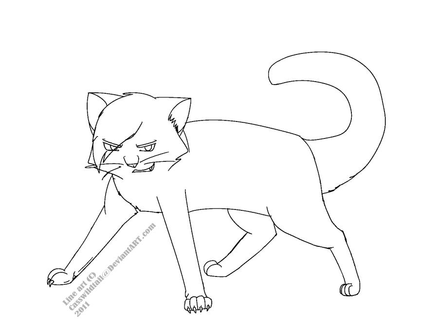 900x675 Evil Cat Lineart By Emberstarfireclan
