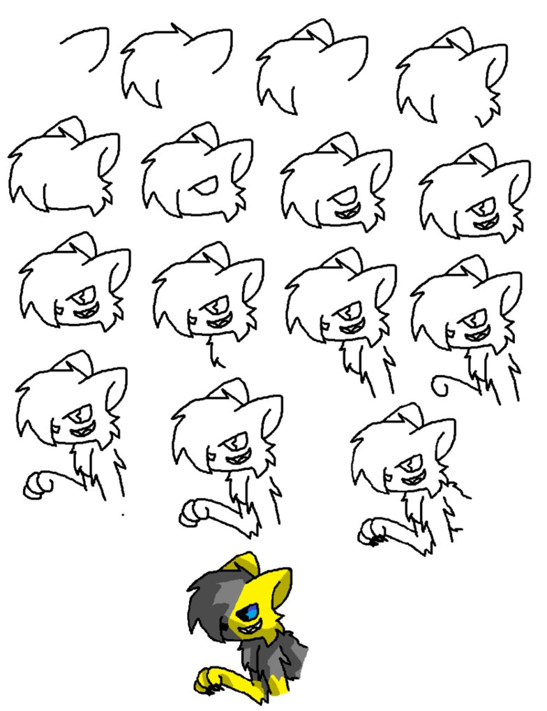 784x1018 How To Draw A Cat 3, Evil Cat By Milesthfox