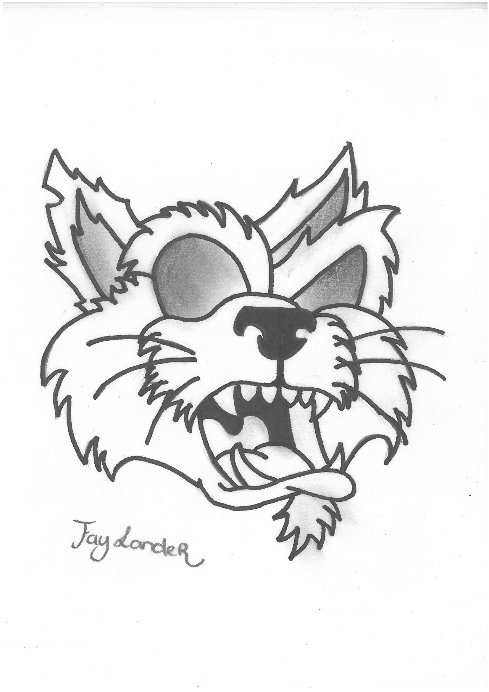 1653x2338 Evil Cat My Drawings