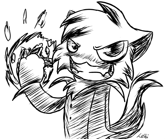 535x452 Weird Evil Magic Cat Doodle Thing By Leibi97
