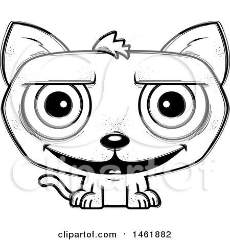 450x470 Clipart Of A Cartoon Scared Evil Orange Cat