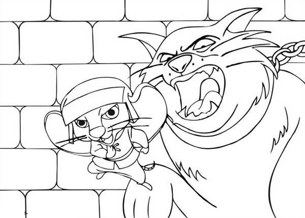 600x428 Despereaux Versus The Evil Cat Coloring Pages Batch Coloring