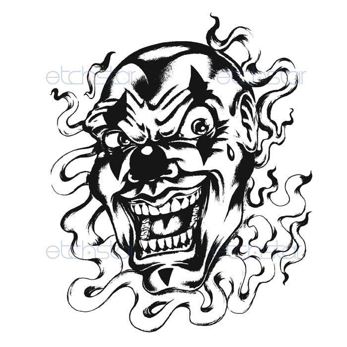 Evil Clown Drawing