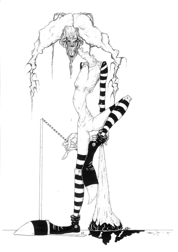 753x1062 Evil Clown 2 By Woodwose