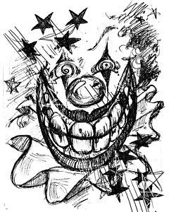 240x300 Evil Clown Drawings Fine Art America