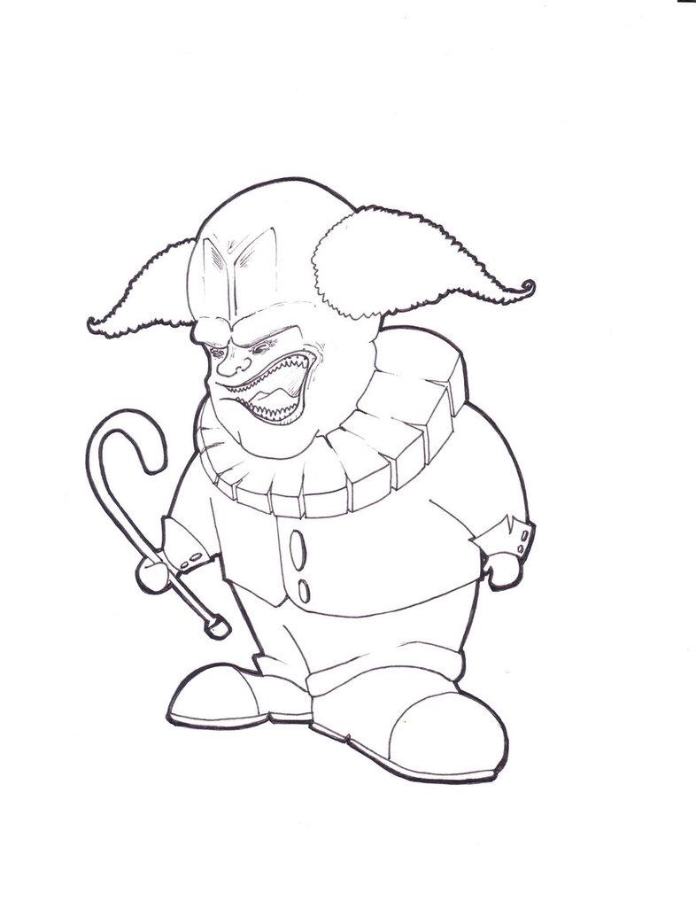 786x1017 Evil Clown By Conopida
