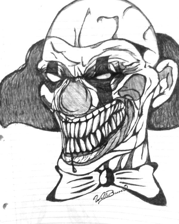 600x750 Evil Clown By Diabl0