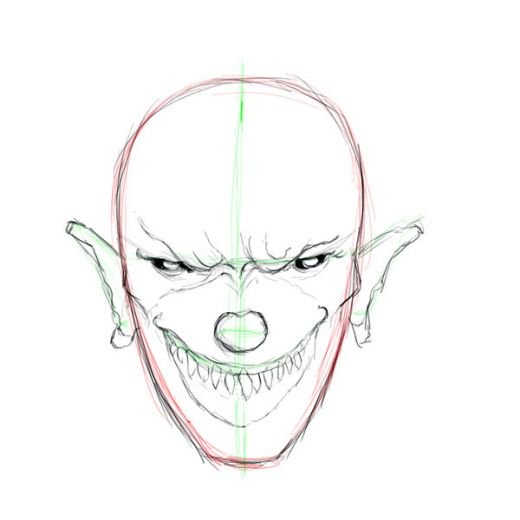 520x520 Evil And Scary Clown Drawings Tutorial Hubpages
