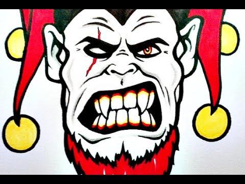 480x360 How To Draw An Evil Clown Xvi