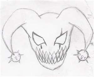 300x246 My Insane Drawing Of A Evil Jester Clown By Macz24daddy
