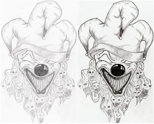 500x404 Scary Clown Ii By Skolewarrior