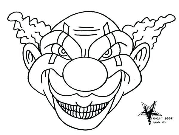 600x453 Best Coloring Pages Of Scary Clowns Fee Download Draw A Clown 5
