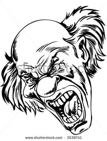 356x470 Image Result For Scary Clown Drawing Scary Clown Bday Halloween