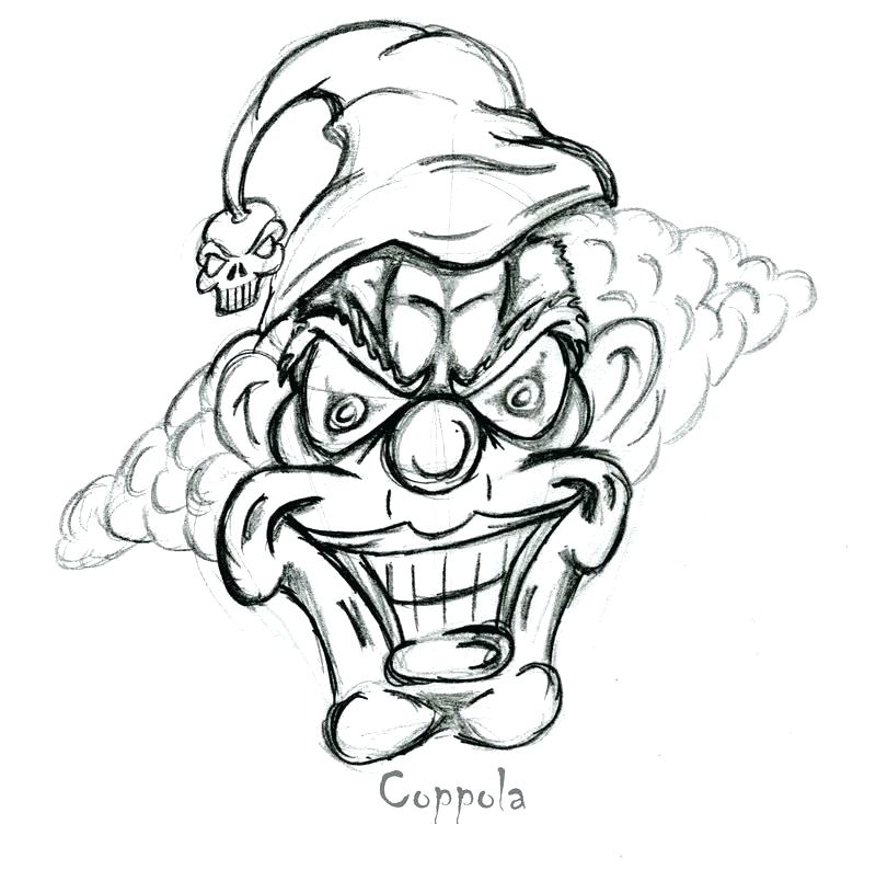 800x794 Scary Clown Coloring Pages Scary Coloring Pages For Adults Evil
