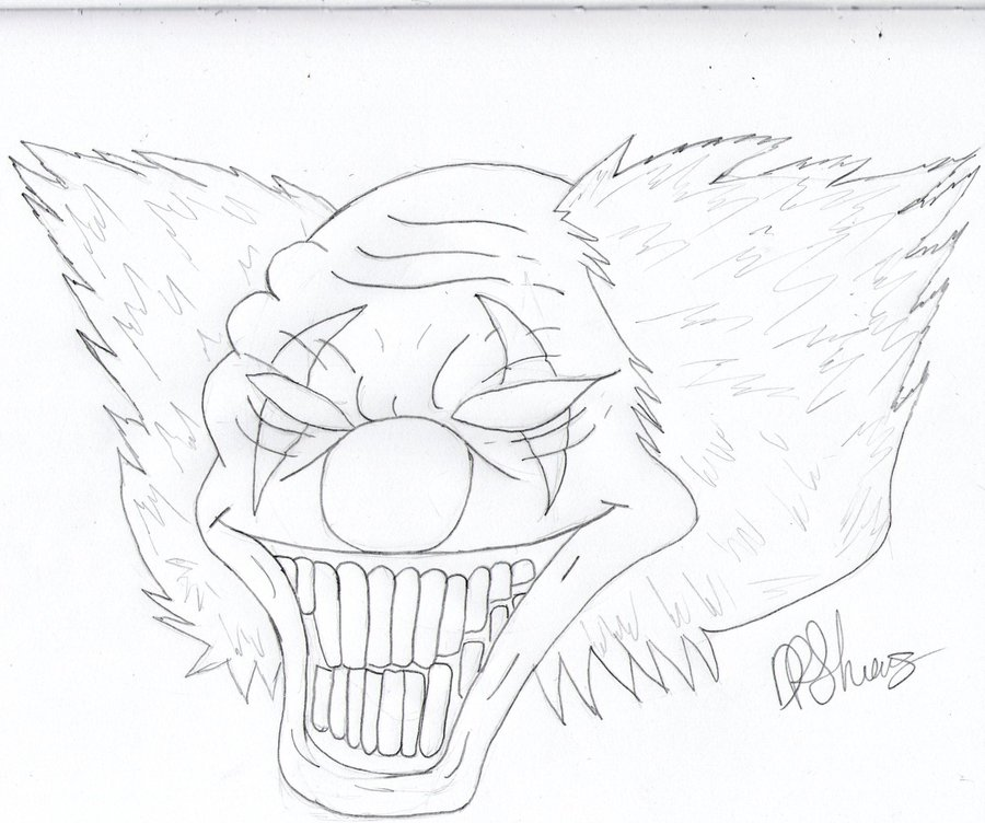 900x752 Evil Clown By K91616