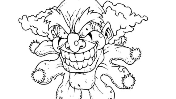 570x320 Scary Clown Drawing How To Draw Scary Clowns Step Step Creatures