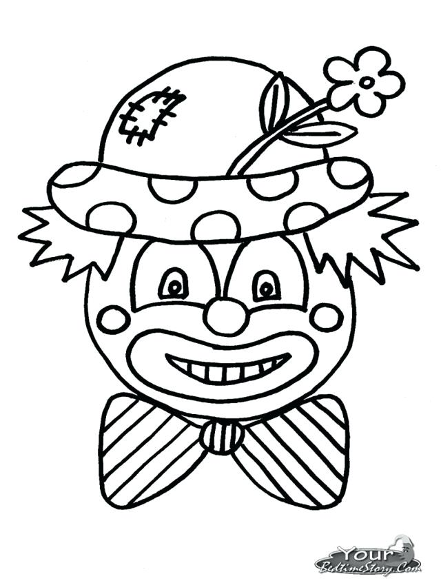 640x849 Evil Clown Coloring Pages Nzherald.co