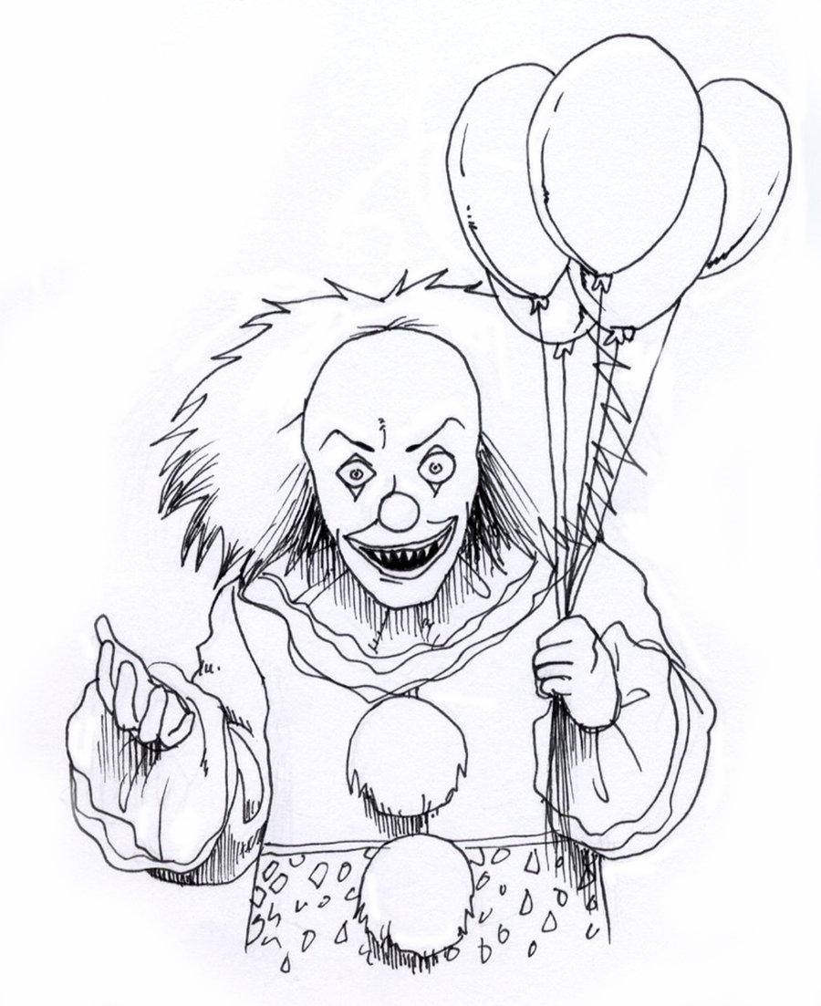 900x1103 Evil Clown Drawings