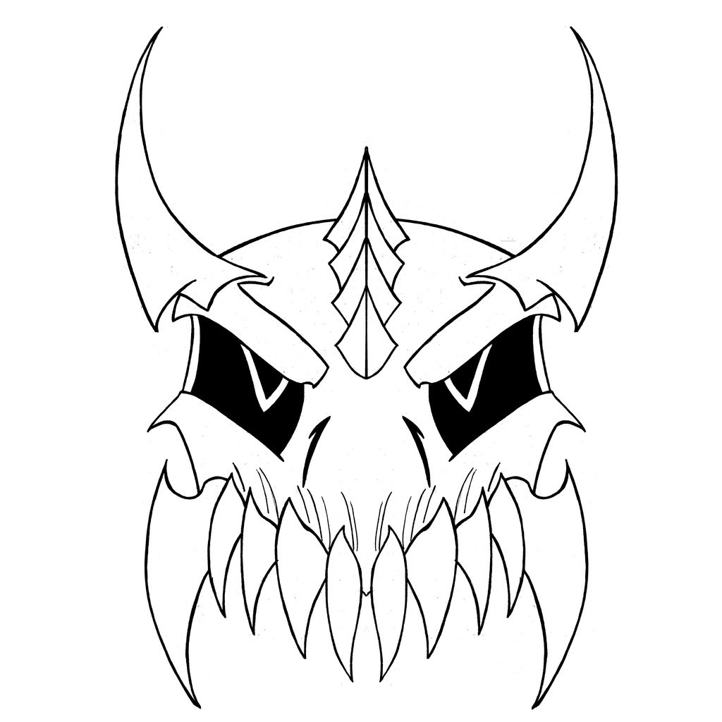 1024x1024 Demon Skull By Risque99