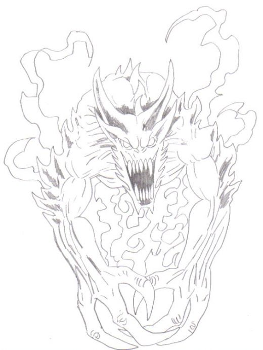 520x691 Demonic Art How To Draw A Demon Hubpages