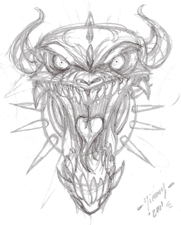 600x747 Evil Demon Sketch By Jim Orki