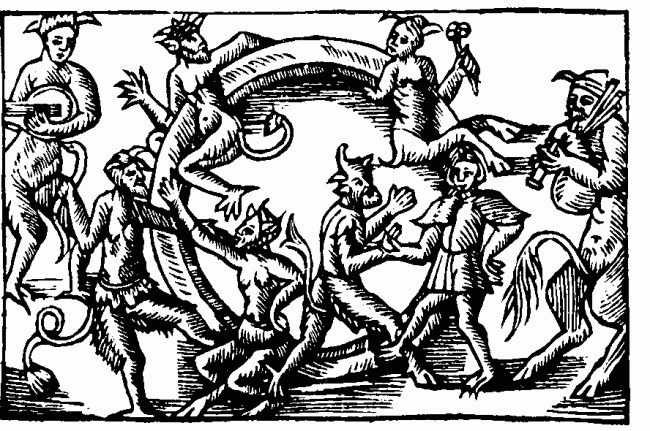 650x431 Woodcut Monsters Demons Dark Ages Evil Hell Illustration Station