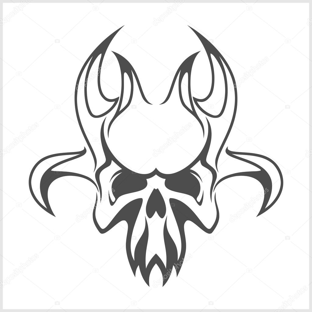 1024x1024 Skull Demon Or Evil Horror Stock Vector Digital Clipart