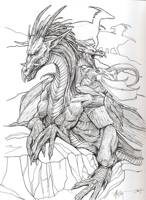 Evil Dragon Drawing