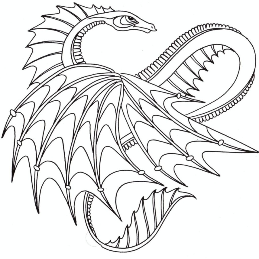900x900 Coloring Pages Dragon For Adults Voteforverde