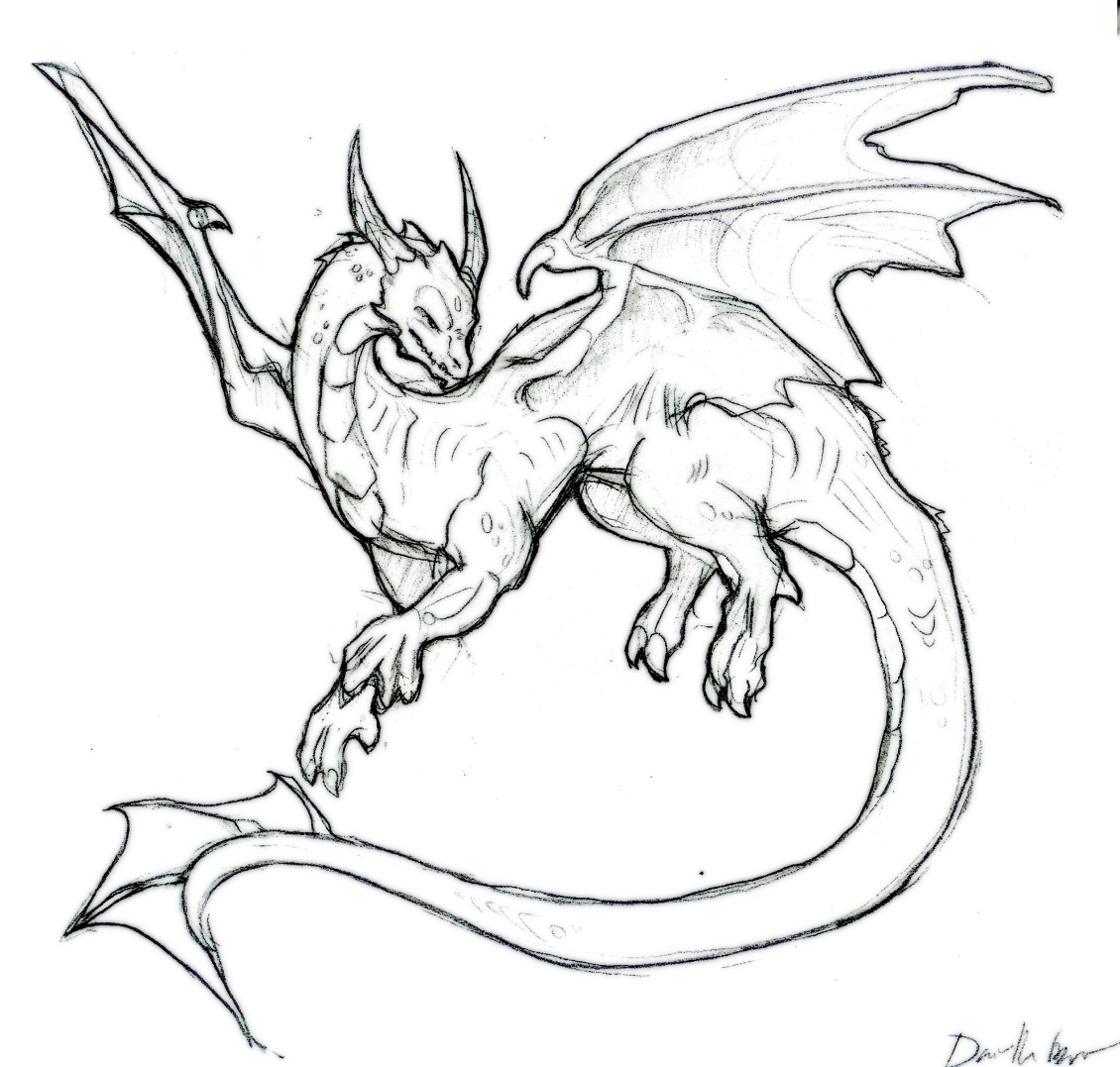 Evil Dragon Drawing at GetDrawings.com | Free for personal ...