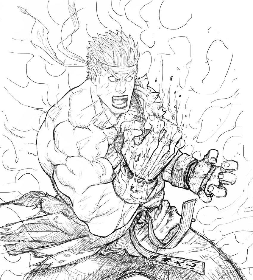 850x940 Evil Ryu Sketch By Sagatt