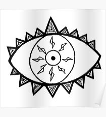 210x230 Evil Eye Drawing Posters Redbubble