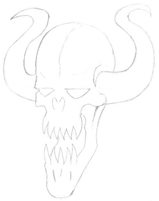 520x658 Fantasy Art Drawing How To Draw A Demon Face Hubpages