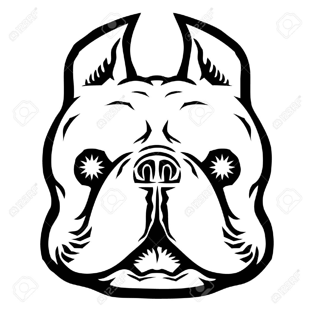 1300x1300 French Bulldog With Evil Eyes Royalty Free Cliparts, Vectors,