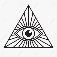 236x236 All Seeing Eye Symbol, Vector Illustration Royalty Free Cliparts