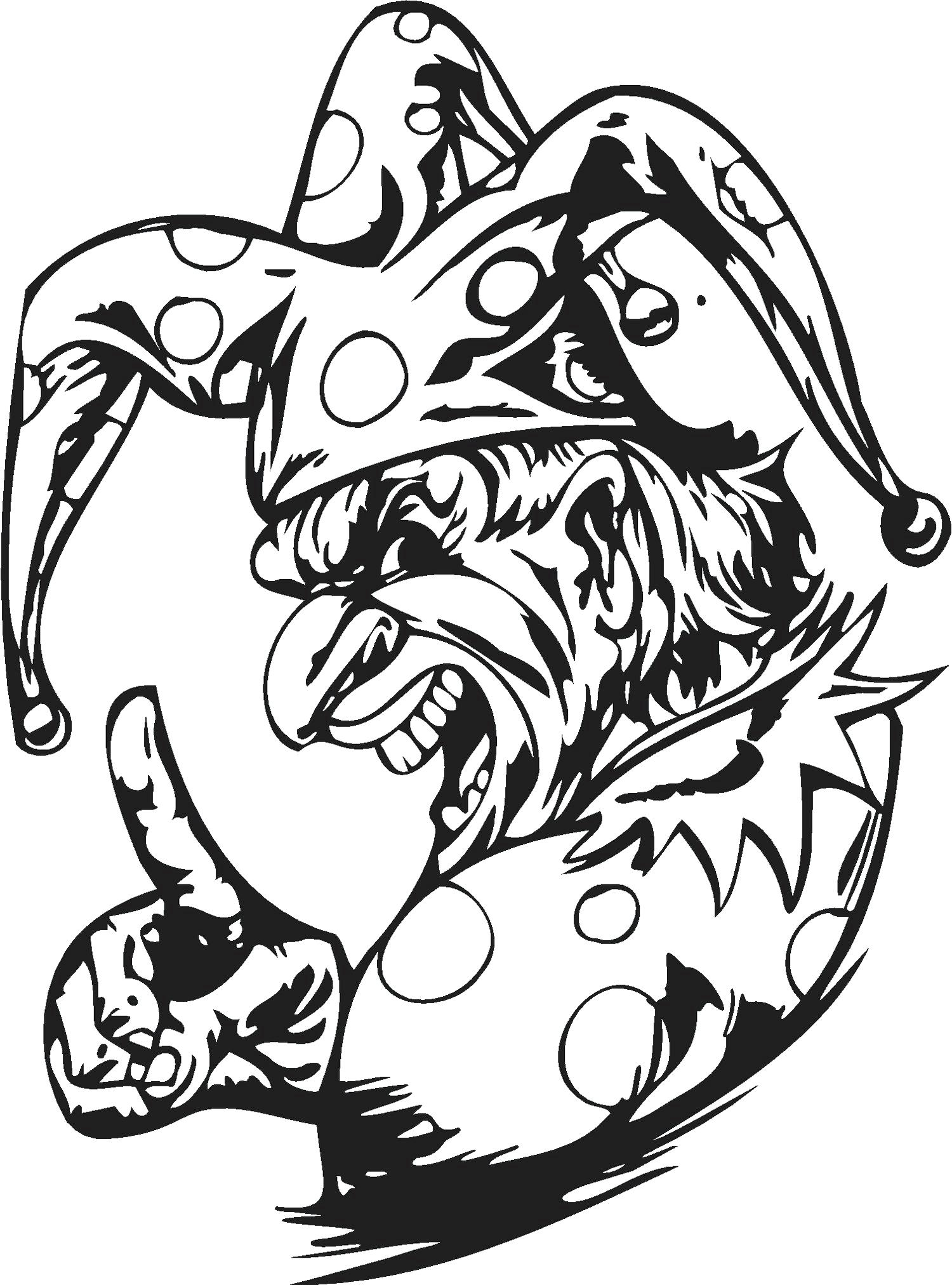 scary clown printable coloring pages | Evil Joker Drawing at GetDrawings.com | Free for personal ...