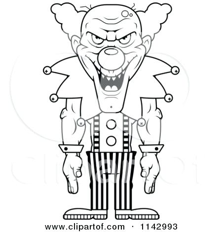 450x470 Scary Clown Coloring Page Scary Clown Coloring Pages Scary Clown