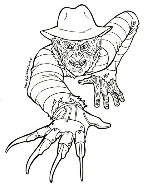 474x595 Scary Horror Coloring Pages