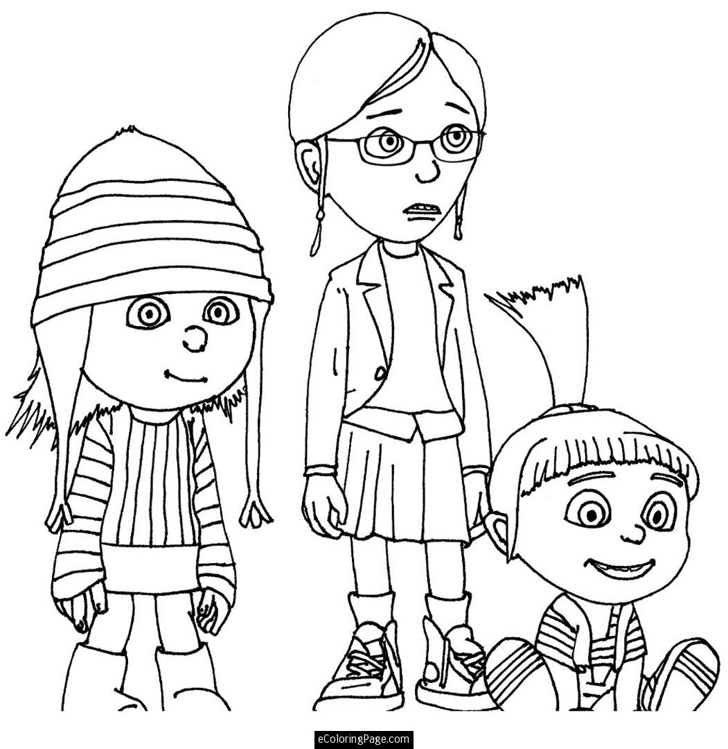 1051x1080 Despicable Me 2 Evil Minions Coloring Pages
