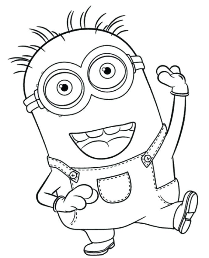 687x851 Awesome Free Printable Minion Coloring Pages For