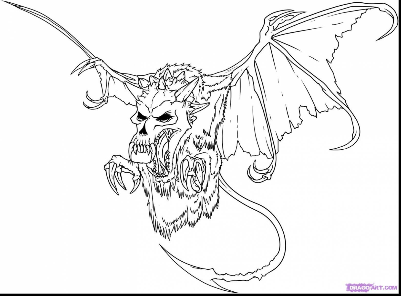 Evil Monster Drawing at GetDrawings.com | Free for personal use Evil ...