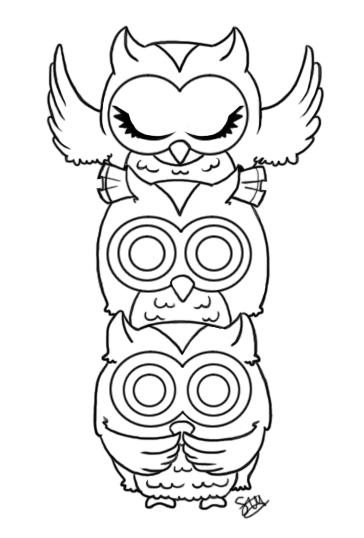 364x538 Owls See Hear Speak No Evil By Stupid Ism