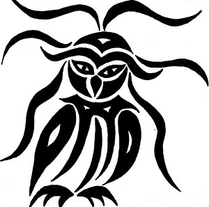 300x297 Abstract Owl Drawings Fine Art America