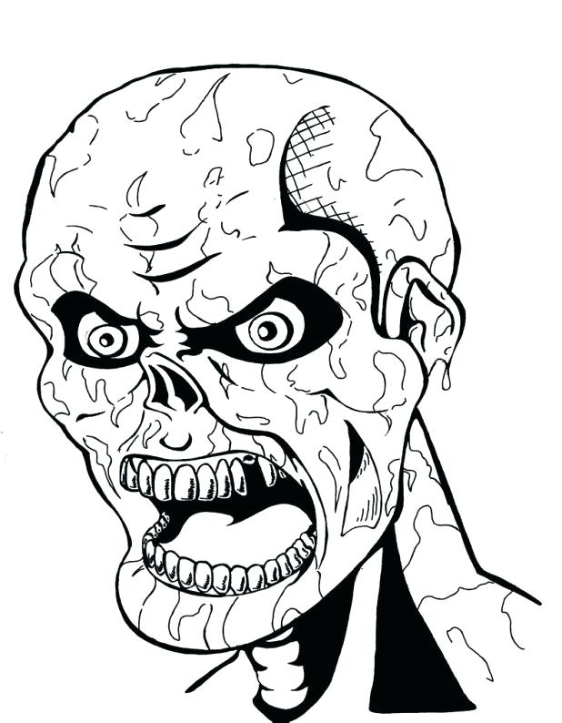 618x794 Scary Clown Coloring Page Scary Pumpkin Coloring Pages Scary
