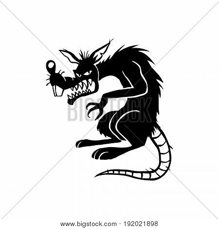 450x470 Evil Black Rat Cartoon Character Vector Amp Photo Bigstock