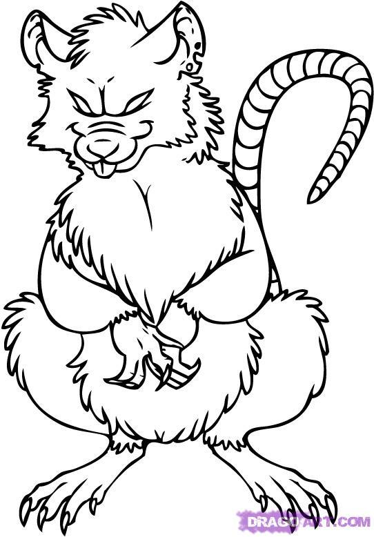 542x778 Evil Rat Cartoon Drawings Free Image