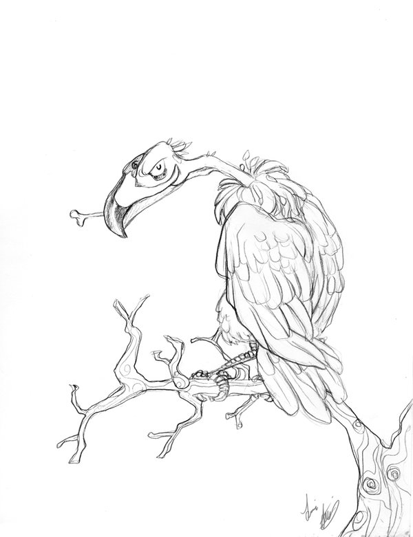600x781 Evil Vulture By On @ Art
