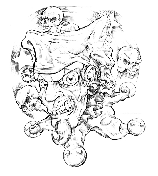 538x600 Pin By Tomi Ransom On Clowns Evil Clowns, Drawings